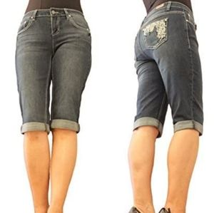 ♨️ NWT Earl fancy gray capri jeans 14W